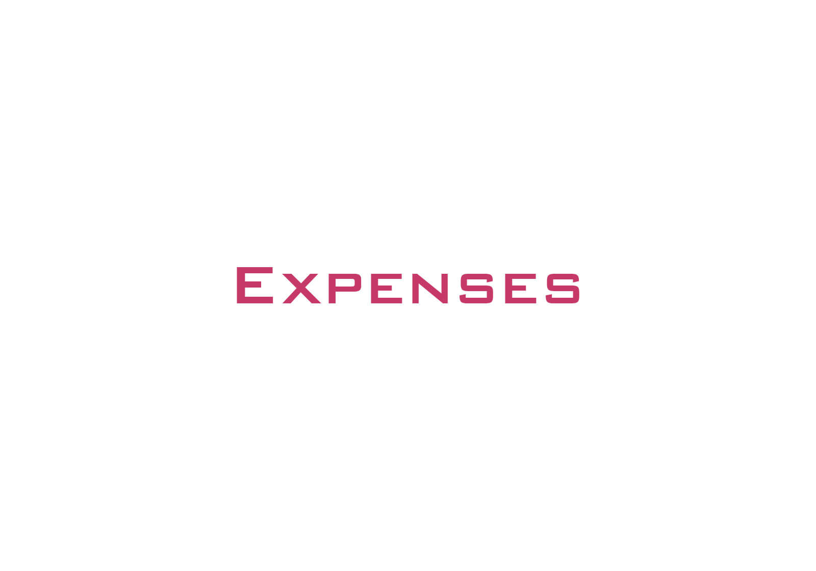 Travel & Accommodation Expenses