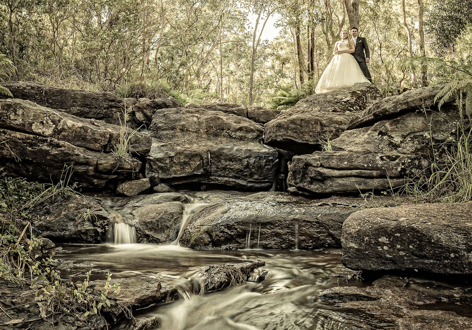 Araluen Botanic Gardens , Perth Wedding Photography by Peter Adams-Shawn