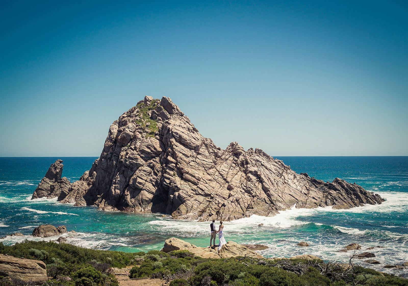 Sugarloaf Rock, Dunsborough Wedding Photography by Peter Adams-Shawn